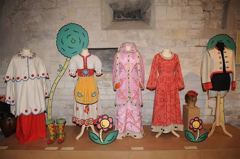 Costumes from Hrátky s čertem, on display at Barrandov Studios. (src: idnes.cz)